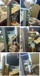Veer sleutel voor ondersteboven vork