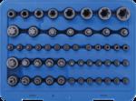 Bit- en dopsleutelset E-profiel / T-profiel / T-profiel mt boring / TP-profiel 52-dlg