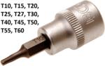 Dopsleutelbit 10 mm (3/8) T-profiel (voor Torx)
