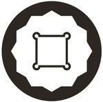Kracht dopsleutel twaalfkant, diep (3/4) 17-39mm