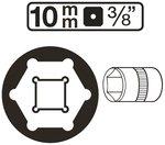 Dopsleutel zeskant 10 mm (3/8)
