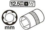 Speciale dopsleutel / schroefuitdraaier (1/2) 8-41mm