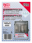 Diamantvijlset recht 140 x 3 mm 10-delig