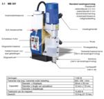 Magneetboormachine 330x260x450mm