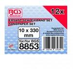 Schuurband 10 mm x 330 mm 12 stuks voor BGS 8853