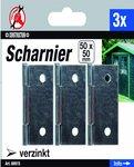 3-delige Scharnier Set, 50 x 50 mm
