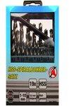 19-delige Spiraalboor Set HSS 1-10 mm