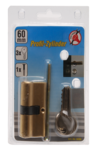 Expert Solid Brass Cylinder Lock, 60 mm lang