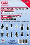 Assortiment, bekledings clips VW, Audi, Volvo, Chrysler, Ford & Mercedes, 350-delig