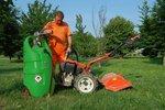 Tank benzine groen 110 liter, manuele pomp