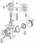 Olievrije compressor 8 bar - 6 liter, 385x170x465mm