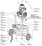 Mobiele werfcompressor hds bx 10 bar, 24 liter