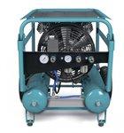 Mobiele werfcompressor hos 10 bar - 2x11 liter