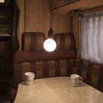 Retro lamp XL hout motief met koord 90cm