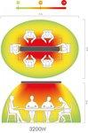 Infrarood warmtestraler zonder licht hot-top 3200W