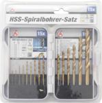 HSS-spiraalborenset titanium gecoat 1,5 - 10 mm 15-dlg