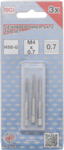 Draadsnijtapset voor-, middel- en nasnijder M4 x 0,7 3-dlg