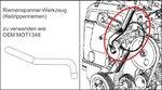 Motorafstelset voor Renault, Volvo, Ford 16V, 20V Benzin