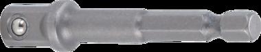 Adapter voor boormachines aandrijving buitenzeskant 6,3 mm (1/4) / uitgaande buitenvierkant 10 mm (3/8)