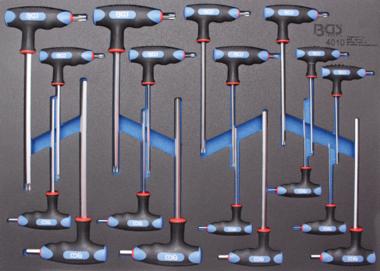 3/3 Gereedschap module 18-delig Int. Hex. & torx T-Bar moersleutel