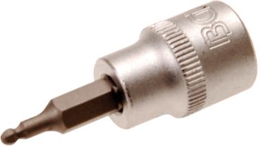 Dopsleutelbit 10 mm (3/8) INBUS met kogelkop