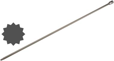 Dopsleutelbit lengte 800 mm voor Audi, VW 12,5 mm (1/2) veeltand (voor XZN)