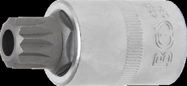 Dopsleutelbit 12,5 mm (1/2) veeltand (voor XZN) met boring M16