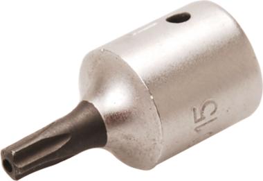 Dopsleutelbit 6,3 mm (1/4) TS-profiel (voor Torx-plus) met boring