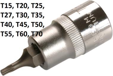 Dopsleutelbit 12,5 mm (1/2) T-profiel (voor Torx)