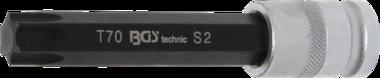 Dopsleutelbit lengte 120 mm 12,5 mm (1/2) T-profiel (voor Torx) T70
