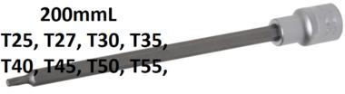 Dopsleutelbit lengte 200 mm 12,5 mm (1/2) T-profiel (voor Torx)