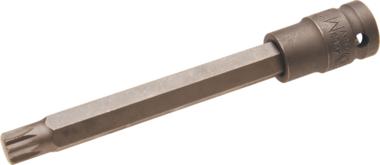 Kracht dopsleutelbit lengte 140mm (1/2) veeltand (voor XZN) M12