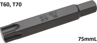 Bit lengte 75mmL 14 mm buitenzeskant Torx