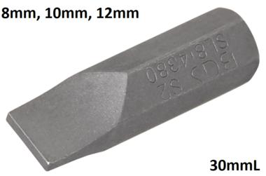 Bit 8mm (5/16) buitenzeskant sleuf