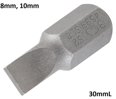 Bit 10mm (3/8) buitenzeskant sleuf