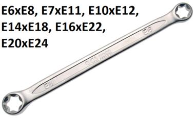 Ringsleutel met E-profiel koppen