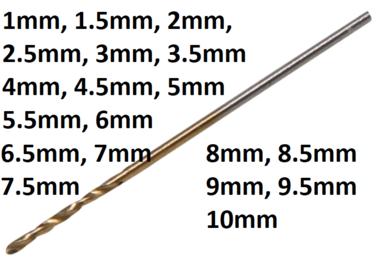 Spiraalboor HSS-G titanium gecoat