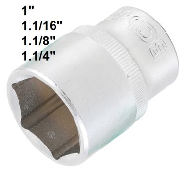 Dopsleutel zeskant 12,5 mm (1/2)