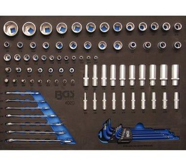 3/3 Gereedschap module 90-delig dopsleutels en combinatie sleutel