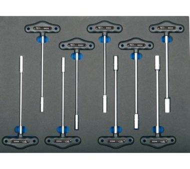 3/3 Gereedschap module 9-delig T-sleutel dopsleutel sleutel