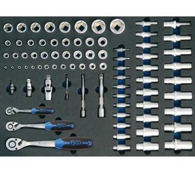 3/3 Gereedschap module 80-delig ratel en dopsleutel set