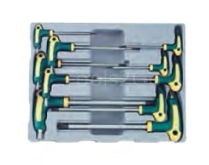 T-greep resistorx sleutelset 10 delig