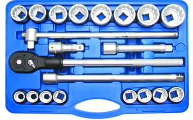 Dopsleutelset 20 mm (3/4) inches 21-delig