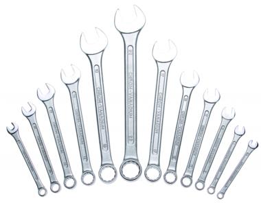 12-delige Combinatie sleutelset volgens DIN 3113 6-22 mm