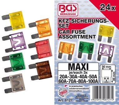 24 stuks Automobiel Maxi Zekering Set