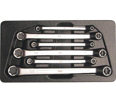 6-delige  Diep Verloop Dubbele Ringsleutel set voor E - Type Schroeven E6 - E24