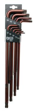 Stiftsleutelset extra lang T-profiel (voor Torx) met kogelkop T10 - T50 9-delig