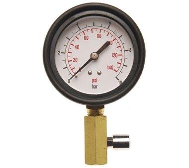 Meter met Klep voor oliedruk test