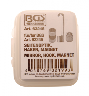 Endoscoop toebehorenset, spiegelprisma, haak, magneet voor BGS 63245