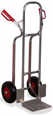 Aluminium steekwagen Hoog 250kg PU banden (MW) 270x200 mm